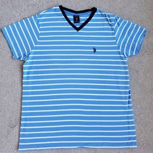 U.S. Polo Assn. Striped V-Neck Shirt